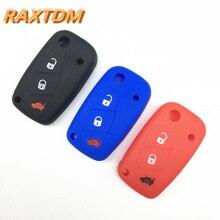 1pc 3 buttons Silicone car key case cover for FIAT /Panda /Stilo /Punto /Doblo /Grande /Bravo 500 Ducato /Minibus
