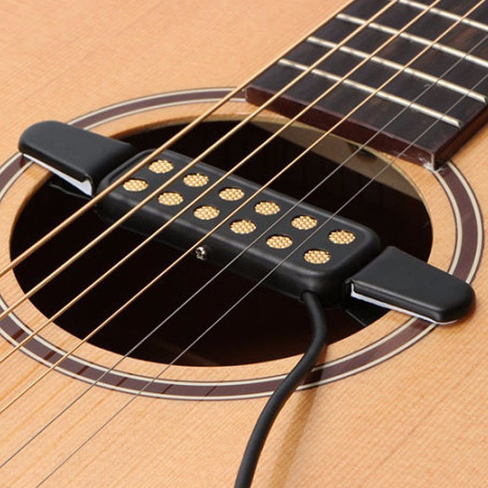irin 12 hole acoustic electric guitar pick up transducer amplifier clip on sound pickup. Black Bedroom Furniture Sets. Home Design Ideas