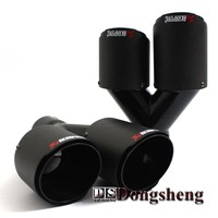 One Pair Inlet63mm Outlet 89mm Dual For AKRAPOVIC AK Carbon Fiber Tail Tip Exhaust Pipe Tail