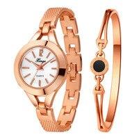 Watches Women Set Xinge Luxury Bracelet Watch Clock Crystal Jewelry Steel Watch Girl Casual Wristwatch S0383