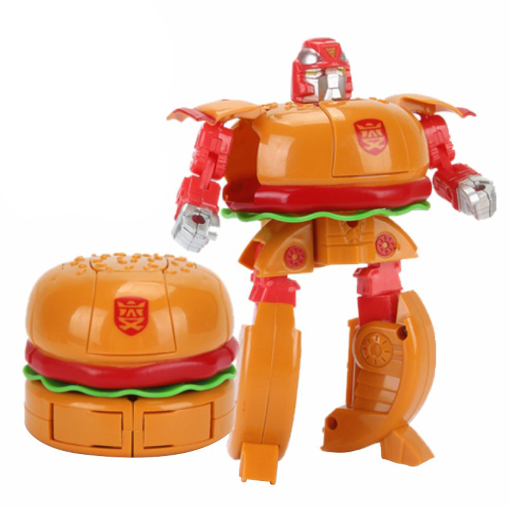 Transformation Robot Toys Food-Play-Collection Best-Gift Plastic French Kids Cake Fries