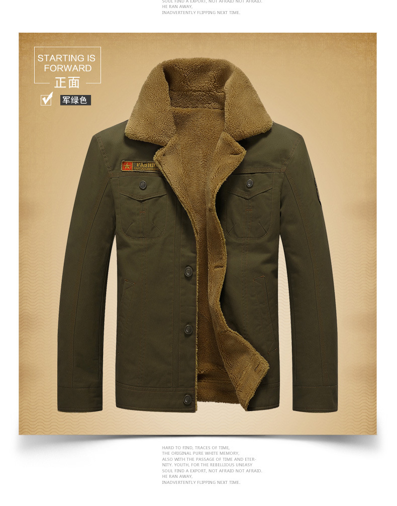6a23fc8604cbb5 Fur Collar Male Jacket Denim Thicken Fleece Mens Coats and Jackets Jeans  Aeronautica Militare Manly Winter Male Outwear Parka