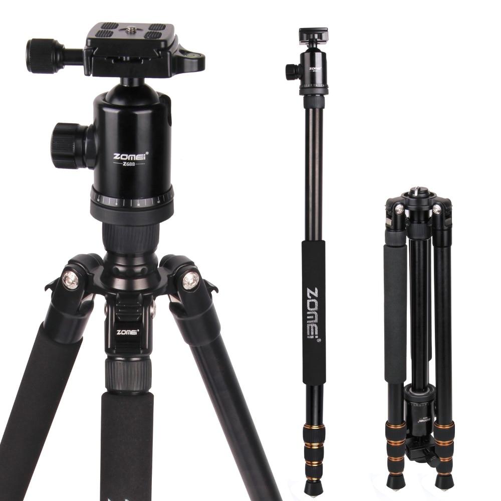 Zomei Z688 Fotografiche Professionali Da Viaggio Compatto In Alluminio Heavy Duty Tripod Monopiede & Ball Head per DSLR Fotocamera Digitale