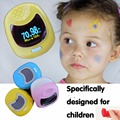 Child Kids Pediatric OLED Fingertip digital Pulse Oximeter SpO2 Pulse Rate Monitor Blood Oxygen SpO2 oximetro 3 color NO battery