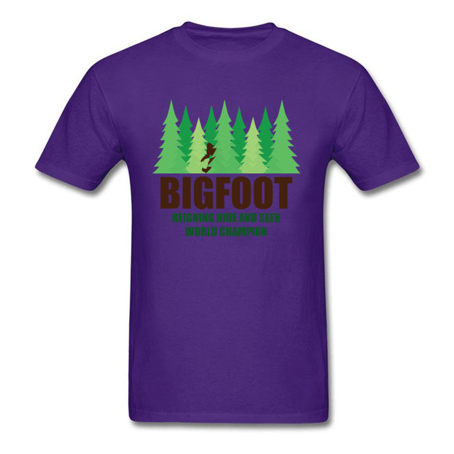 eb29bbd9f Green Forest Earth Day T Shirt For Men Bigfoot Sasquatch Hide And ...