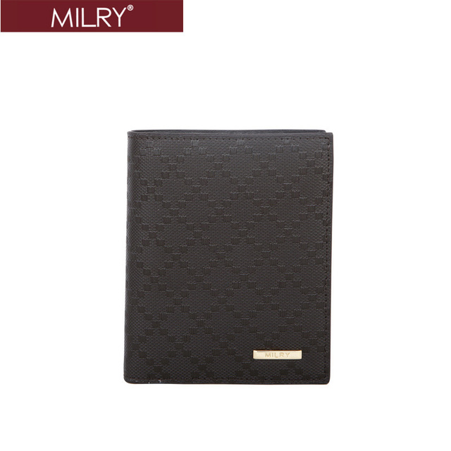 Free Shipping Brand MILRY 100% Genuine Leather men wallet purse money clip gift for men embossing pattern  C0181