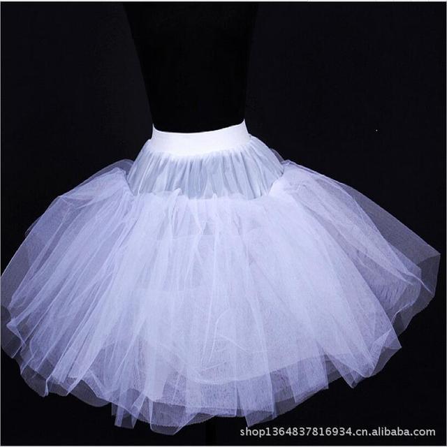 Sin hueso Ballet Estancias Falda Elástico de La Cintura Vestidos de Novia Enaguas Enagua Corta Enagua Para El Vestido De Boda CrinolineBV313