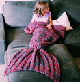 Handmade Mermaid Tail Blanket for Adults And Kids Wool Knitted Mermaid Blanket Super Soft Cotton Children Swaddle Sleeping Bag