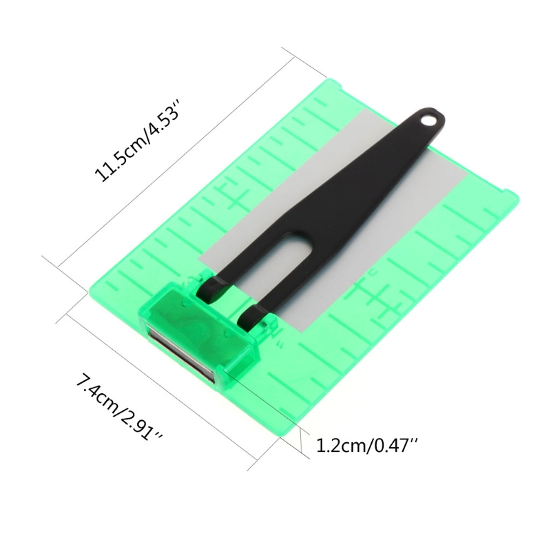 Magnetic Green Target Plate For Rotary Cross Line Laser Level Distance Measurer