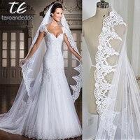 White/Ivory 3M Cathedral Length Lace Edge Bridal Head Veil With Comb Long Wedding Veil Accessories velos de novia