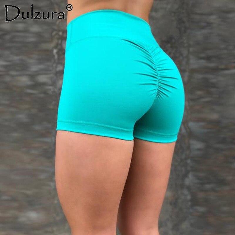 Dulzura push up high waist shorts legins 2018 summer women sexy fitness skinny stretch workout leggins