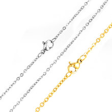 simsimi women Stainless steel O link gold color 1.1/1.5/2mm Rolo chain thin chain DIY jewelry making wholesale necklace(China)