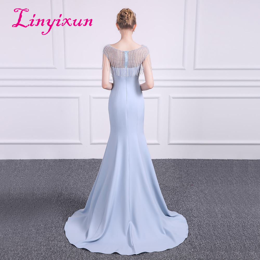 Linyixun Sexy Bling Bling Mermaid Prom Dresses 2018 Lavender Beauty Scoop  Neck Cap sleeve Vintage Evening Dress Long Prom gowns-in Prom Dresses from  ... 94c1f083a2f0