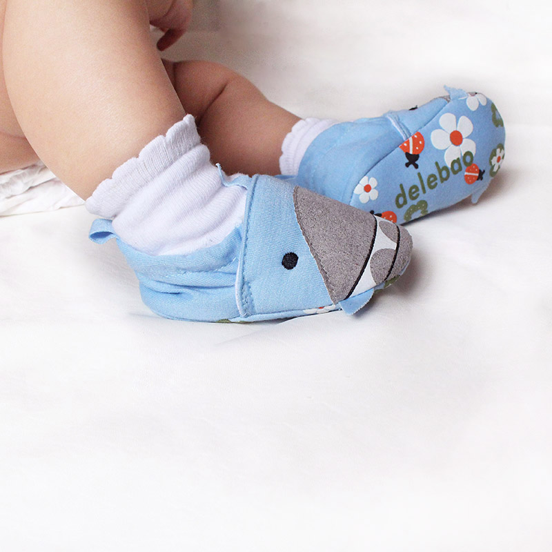 Color Blue Shark Shallow Cotton Slip-On For Spring Autumn Baby Shoes First Walkers Fashion Handmade High Quality