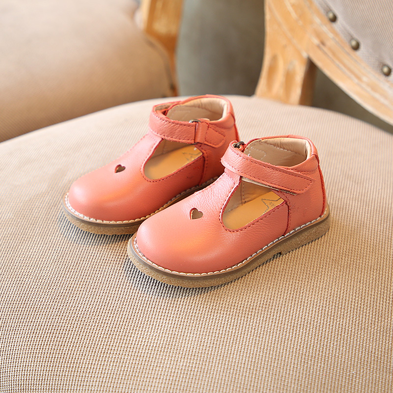 Baby Leather Shoes Hollow Out 2018 Spring New Childrens Shoes Girls Genuine Leather Soft Bottom Baby Shoes