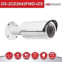 Hikvision Video Surveillance CCTV Bullet Camera DS-2CD2642FWD-IZS 4MP WDR Vari-Focus Lens 2.8~12mm Network POE IP Cameras IR30m