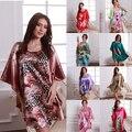 Women Pattern Bat Shirt Sleepwear Nightgown Pajamas Nightdress Silk Blend Robes Nightwear Freeshipping Dropshipping