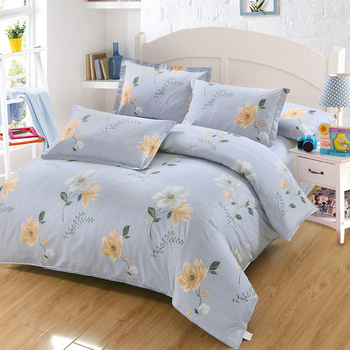 Best-selling Home textiles Flower Bedding Sets Bedclothes 4pcs Duvet Cover quilt cover Bed Sheet Pillow cases Good quality