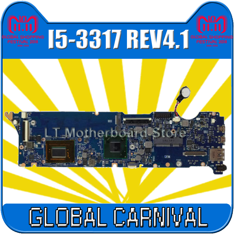 UX31A Motherboard REV4.1 I5-3317 4GB For ASUS UX31A UX31A2 Laptop motherboard UX31A Mainboard UX31A Motherboard test 100% OK купить в Москве 2019