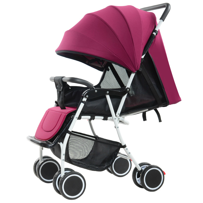 High landscape lightweight baby stroller can sit and lie baby cart comfort portable baby carriage by plane