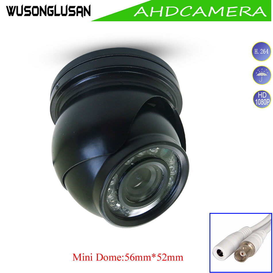 AHD Mini Dome 2MP 1080P 720P Camera Metal Outdoor Waterproof IP66 IR Cut filter Night Vision For CCTV Surveillance Home Security small mini metal 1200tvl cctv security surveillance hd camera ir cut infrared night vision metal waterproof ip66 color home cam