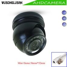 AHD Mini Dome 2MP 1080P 720P kamera metalowa zewnętrzna wodoodporna IP66 filtr podczerwieni noktowizor do nadzoru CCTV bezpieczeństwo w domu