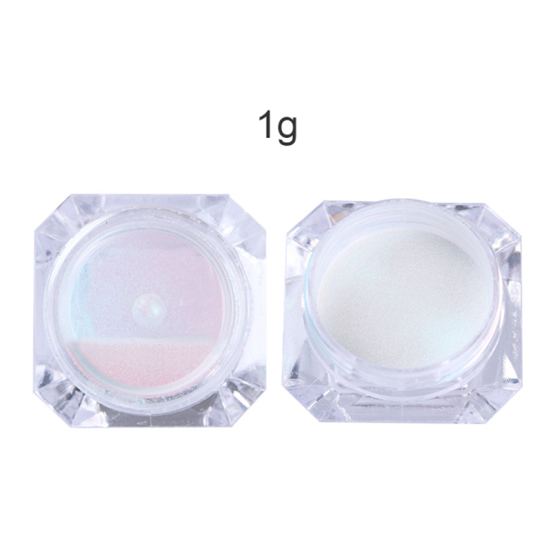 0 5g 1g Holographic Laser Powder Pink Gradient Nail Art Glitter Chrome Powder Pigment Manicure Nail Gel Polish Glitter Dust in Nail Glitter from Beauty Health