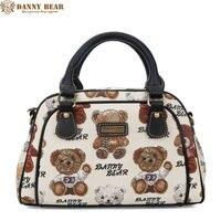 DANNY BEAR Large Capacity Handbags Summer Women White Tote Bags For Shopping Kawaii Jacquard Messenger Bag