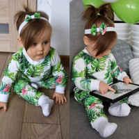 Neugeborenen Baby Mädchen kleidung Flamingo Tops Shirt Lange Hosen stirnband 3Pcs Outfits Kleidung set