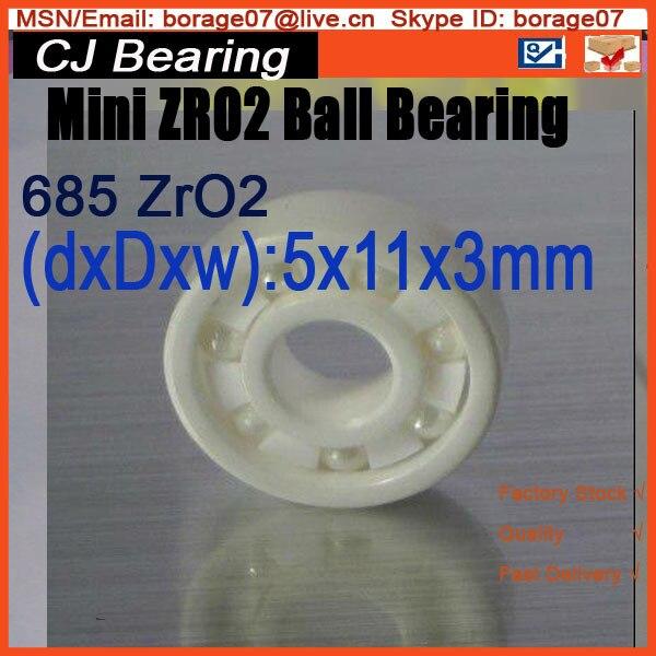 5x11x5 mm 685 zro2 Ceramic ball bearing 618/5 5 11