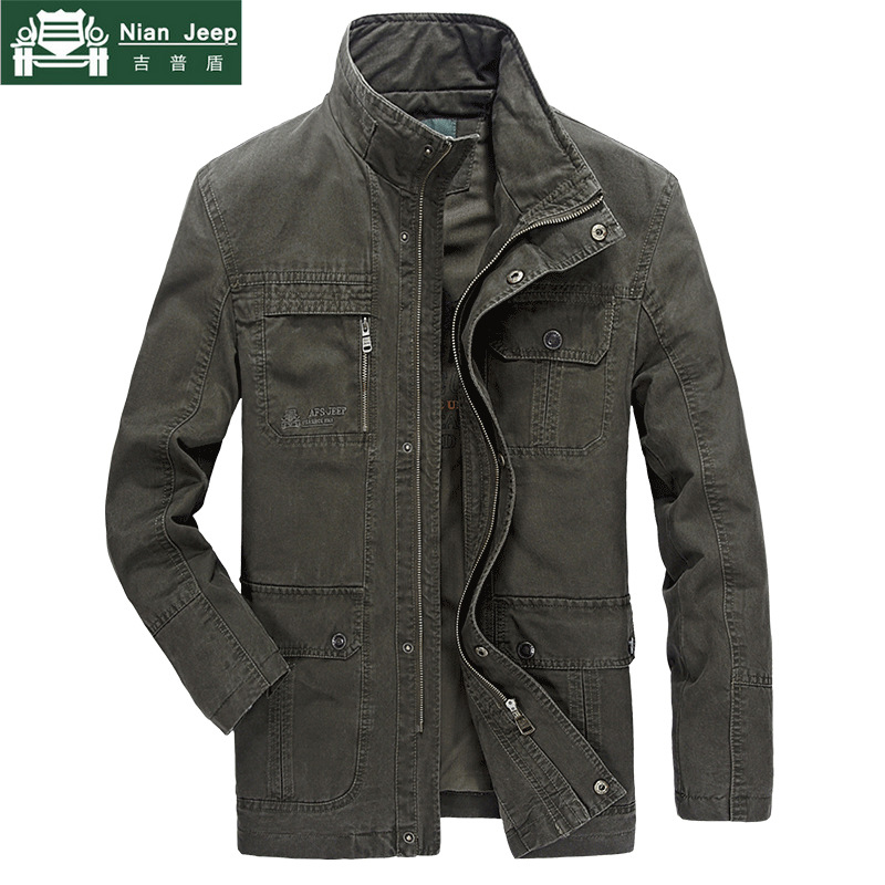 High Quality Military Jacket Men Brand Spring & Autumn Cargo Army Coats Solid Cotton Male Jaqueta Masculina Plus Size M-4XL
