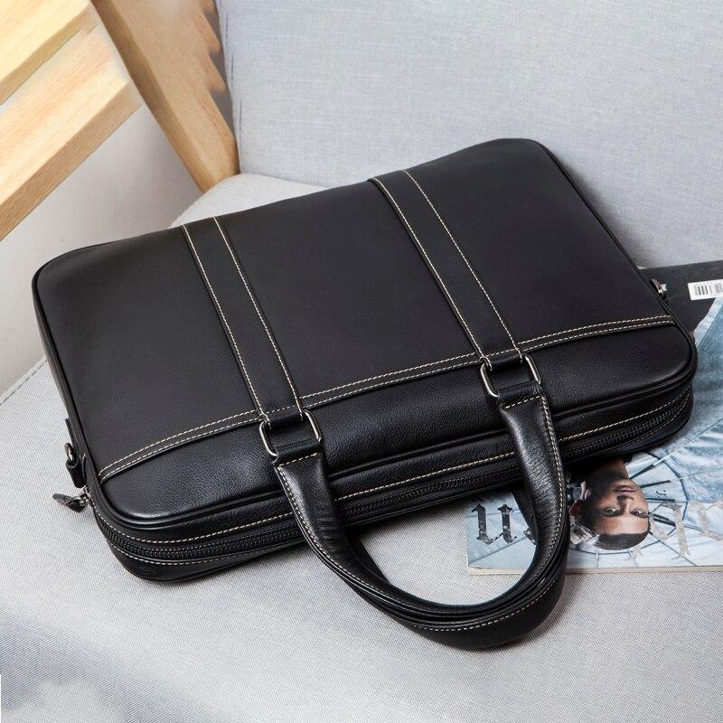 2019 Men's Business Briefcase Luxury Genuine Leather Men Bags Messenger Bag Men Real Leather Laptop Shoulder Bag Office Handbags