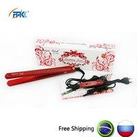 FMK Fast Heat Up Travel Mini Hair Straightener Flat Iron 100V 220V EU AU US Plug