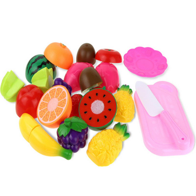 2017 12PC Cutting Fruit Vegetable Pretend Play Children Kid Educational Toy Levert Dropship Oct 25