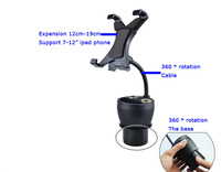 Car Charger Double USB 2 Sockets Cup Cigarette Lighter 360 Degree Rotation Car Holder Cell Phone