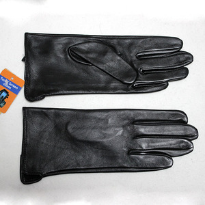 Image 2 - Leather goatskin gloves womens thin touch screen straight style unlined 100% sheepskin gloves outdoor driving driver gloves