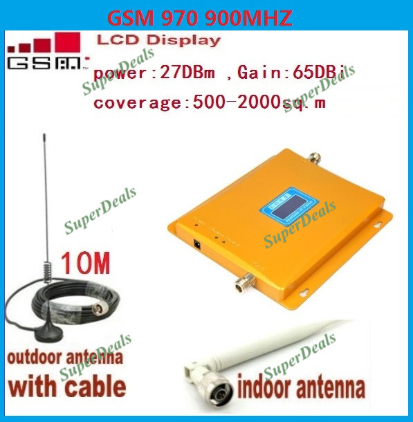 LCD Display GSM 900Mhz Mobile Phone Signal Booster , GSM970 Signal Repeater , Cell Phone Amplifier With Cable + AntennaLCD Display GSM 900Mhz Mobile Phone Signal Booster , GSM970 Signal Repeater , Cell Phone Amplifier With Cable + Antenna