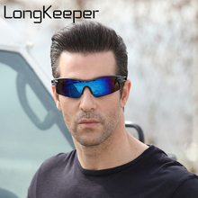 LongKeeper Brand Design 2018 Sport Sunglasses Polarized Men Brand Designer Driving Fishing Polaroid Sun Glasses gafas De Sol