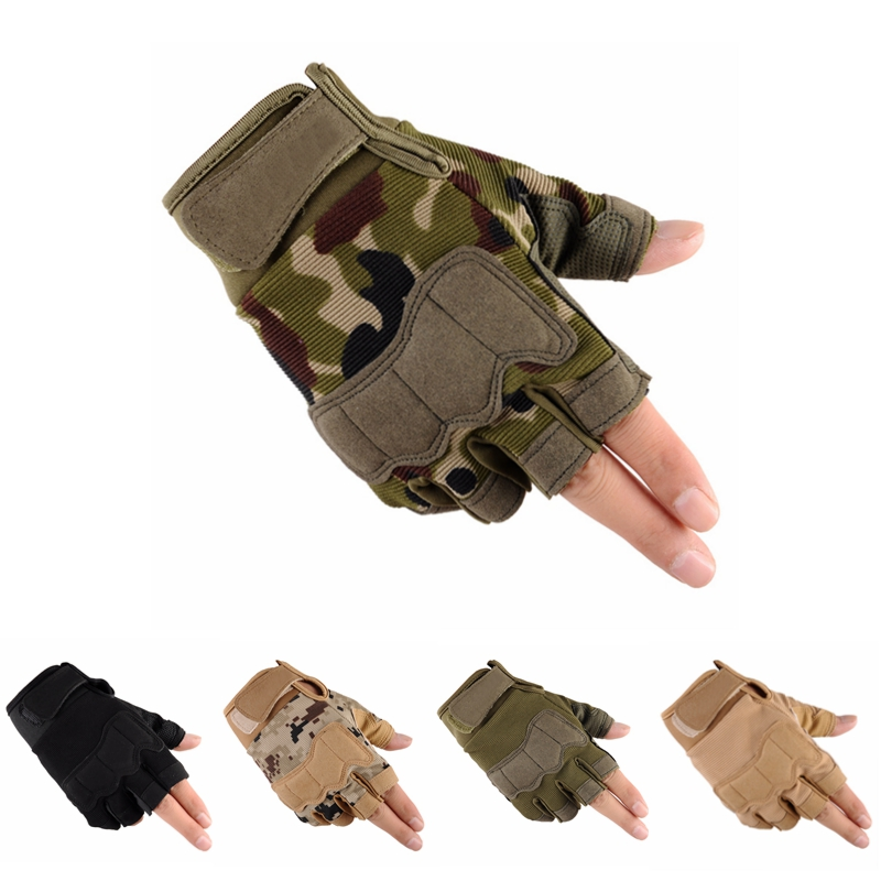 Men's Sports Fitness Weight Lifting Gym Gloves Training Fitness Bodybuilding Workout Wrist Wrap Exercise Tactical Glove