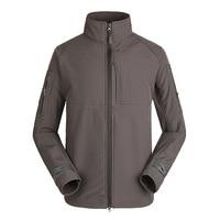 Весенне-осеннее мужское Спортивное теплое ветрозащитное флисовое пальто, Мужская зимняя теплая камуфляжная куртка