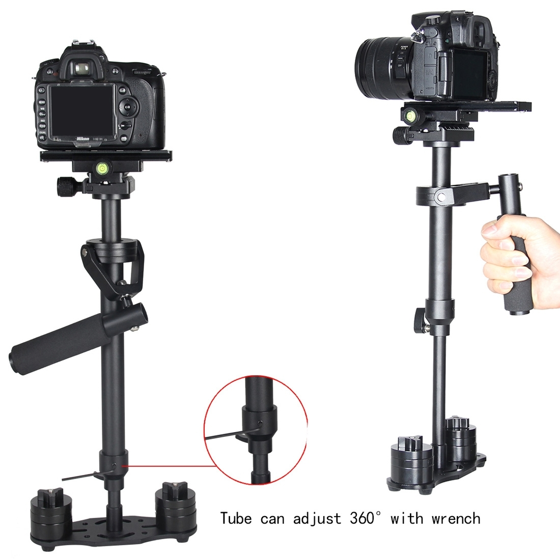 YELANGU S60N Handheld Steady Stabilizer 360° For DSLR Canon Camera