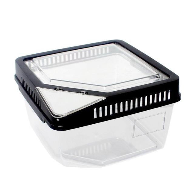 High Quality Terrarium Reptile Breeding Box Tortoise Snake Spider Lizard Beetle Insect House Acrylic Box with Themometer Trough