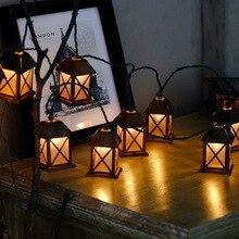 Fairy Retro LED Mini House String Lights 220V 10LEDs 1.5M Bedroom Curtain  Bar Store Festival