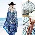Beach Cover Up Capa Bohemia Bikini Boho Hippie Verano Sexy Kimono Pashmina Túnica Traje de Baño Ropa de Protección Solar de Las Mujeres B1