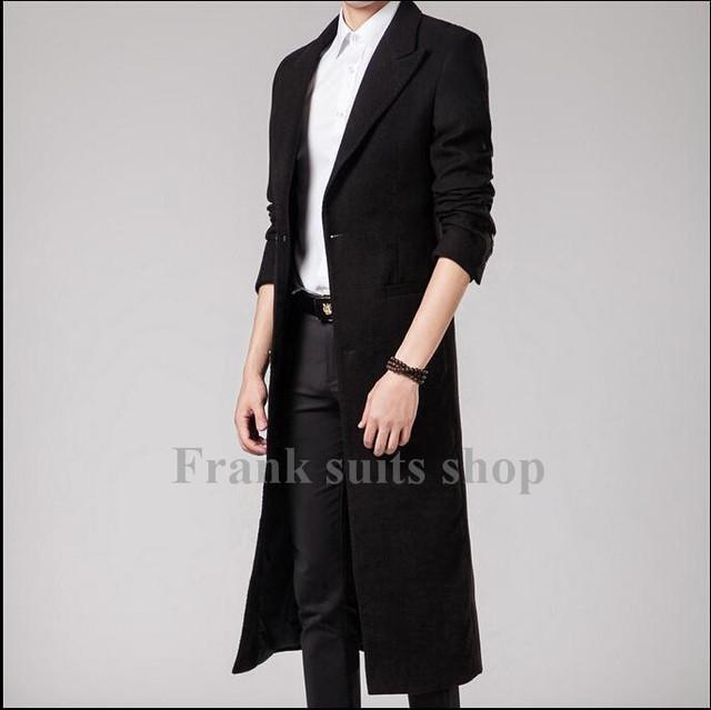 Custom made 2017 Nova design outono e roupas de inverno Coreano de Slim lã casacos Trajes Homens jaqueta outerwear