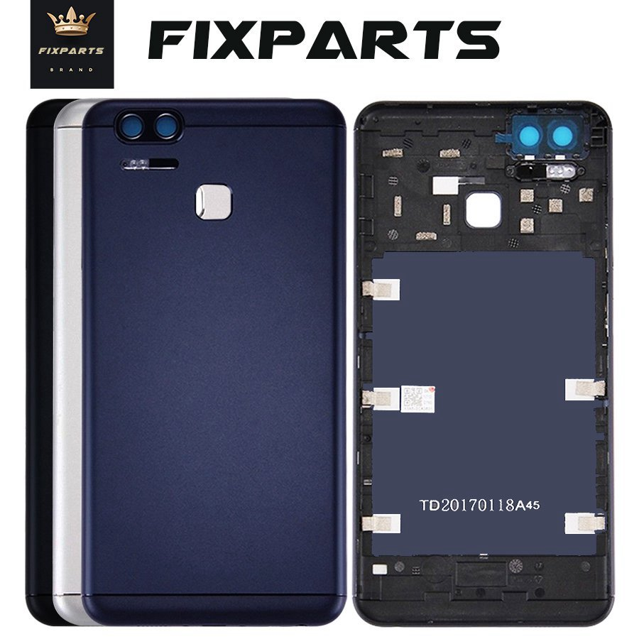 Original Rear Back Housing For ASUS ZenFone 3 Zoom ZE553KL Back Cover Battery Door With Volume Power Button Camera Lens ZE553KL