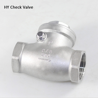 2 1/2 DN65 Check Valve , SS304 Stainless Steel Thread Swing Check Valves