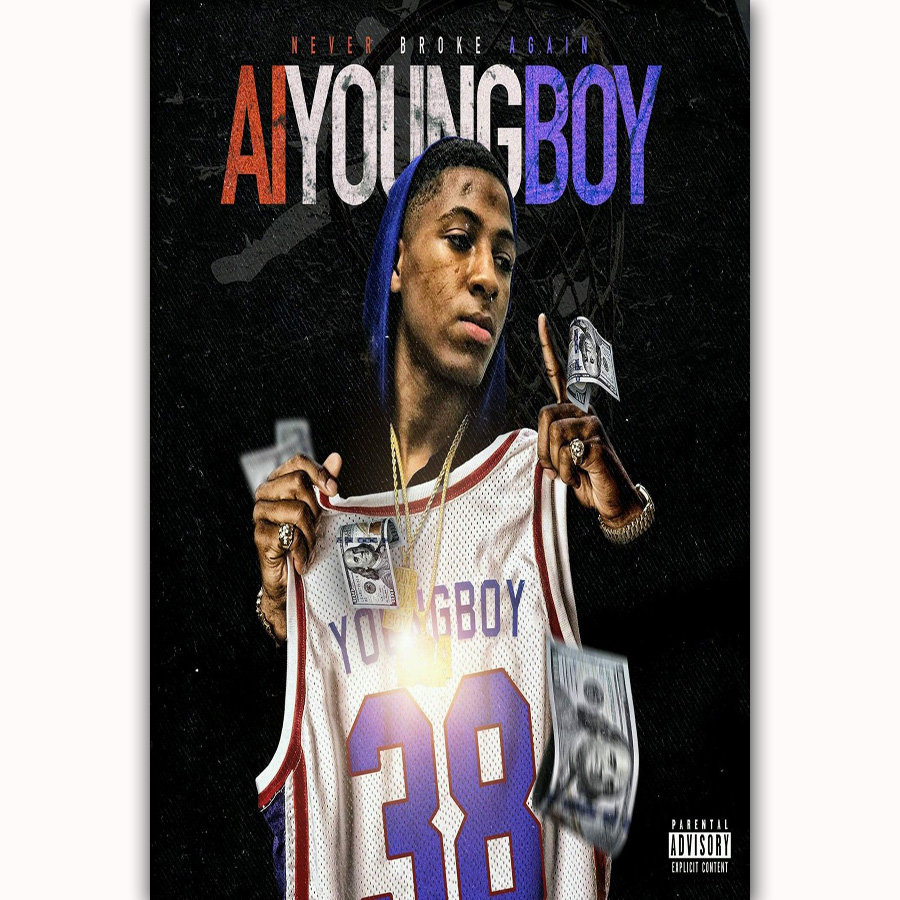 MQ1805 AI Youngboy Hip Hop Rapper Music Singer Star Album