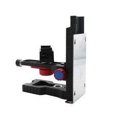 Регулируемый лазерный уровень Магнитный настенный кронштейн интерфейс Инфракрасный уровень подвесная настенная вешалка Горизонтальный Инструмент кронштейн