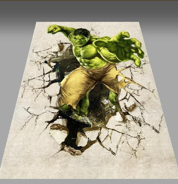 Custom photo floor wallpaper 3D stereoscopic HD hulk damage wall 3D     Custom photo floor wallpaper 3D stereoscopic HD hulk damage wall 3D floor 3d  mural PVC wallpaper